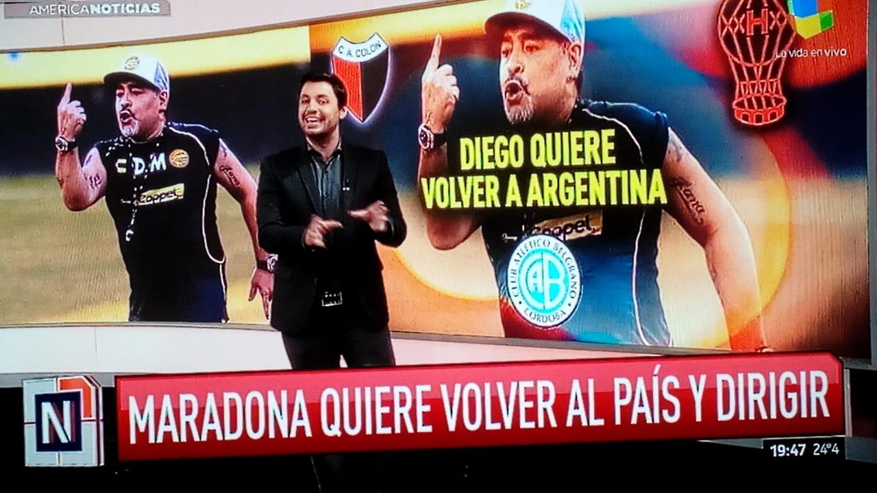 Disciplinaria multa a Diego Maradona
