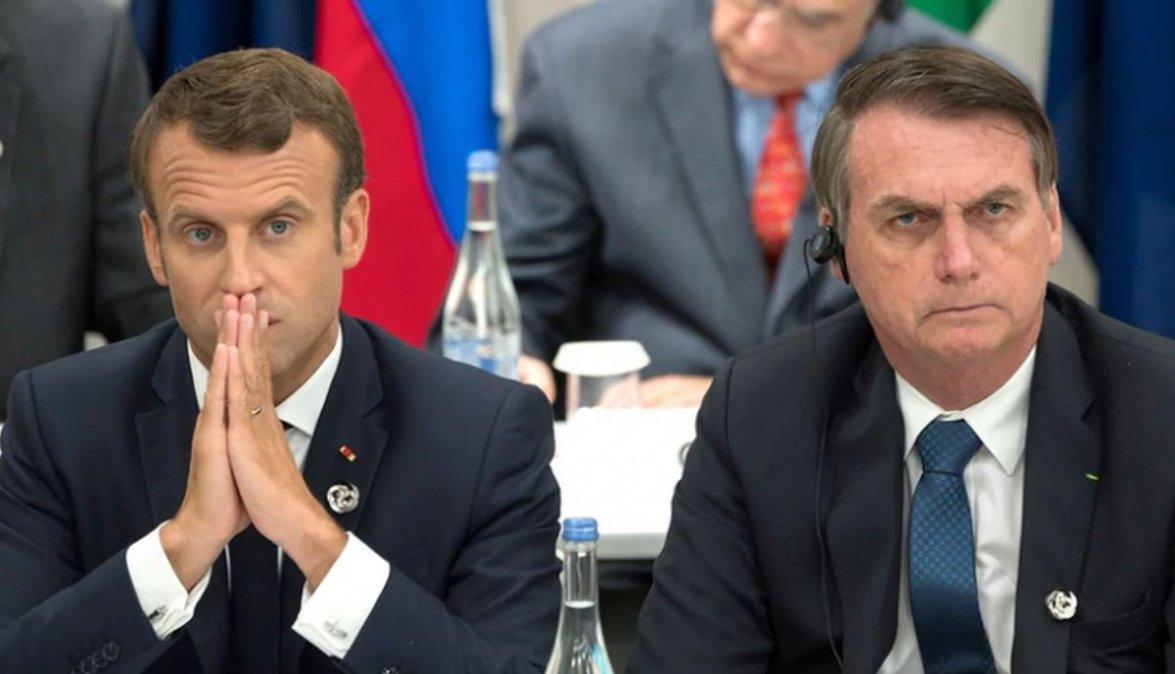 Bolsonaro aceptaría la oferta del G7 sólo si Macron se disculpa